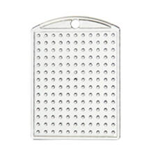Kulcstartó alaplap - átlátszó 2,8x 4 cm