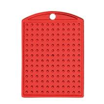 Kulcstartó alaplap - piros 2,8x 4 cm