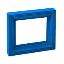 Műanyag képkeret - kék