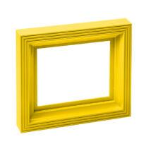 Műanyag képkeret - sárga