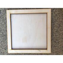 Fa képkeret (12x12cm képhez)