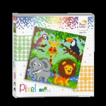 Pixel szett 4 alaplapos - állatkert