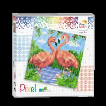 Pixel szett 4 alaplapos - 2 Flamingo