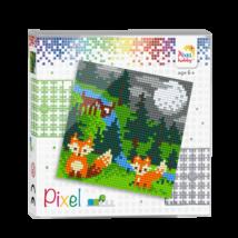 Pixel szett 4 alaplapos - Rókák