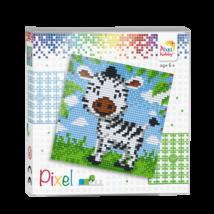 Pixel szett 4 alaplapos - Zebra