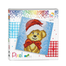 Pixel szett 4 alaplapos - Mikulás maci