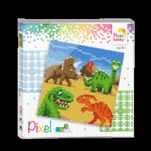 Pixel szett 4 alaplapos - Dínók