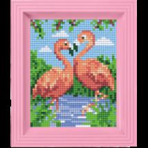 Pixel készlet - FLAMINGO PÁR (dzsungel)