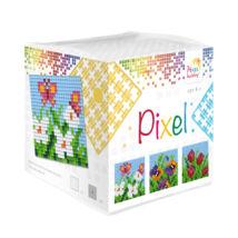 Pixel Kocka - Tavaszi virágok