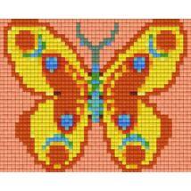 Sárga-narancs pillangó (12,7x10,1cm)