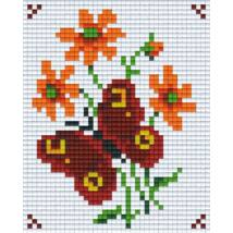 Piros pillangó (10,1x12,7cm)