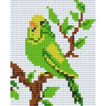 Zöld papagáj (10,1x12,7cm)
