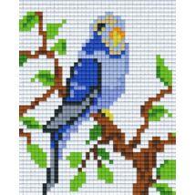Kék papagáj (10,1x12,7cm)