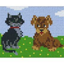 Kutya és macska (12,7x10,1cm)