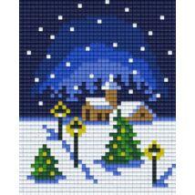 Pixelhobby minta - havas táj