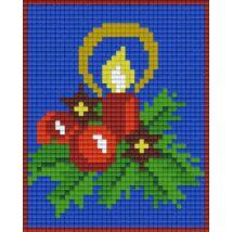 Karácsonyi gyertya 2 (10,1x12,7cm)