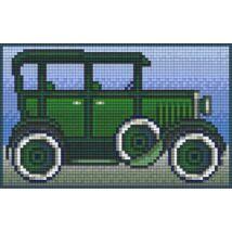 Zöld oldtimer (12,7x20,3cm)