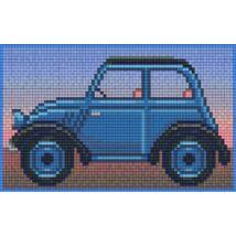 Kék oldtimer (20,3x12,7cm)