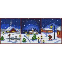 Karácsonyi részletek (30,5x12,7cm)
