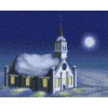 Templom télen (25,4x20,3cm)