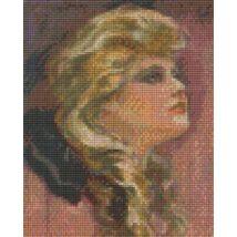 Hölgy fekete masnival (20,3x25,4cm)