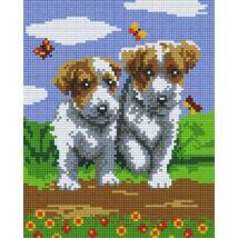Két kutyus (20,3x25,4cm)