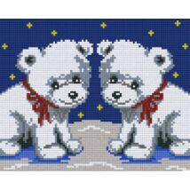 Két jegesmedve 1 (25,4x20,3cm)