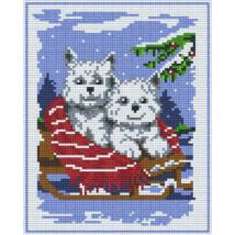 Két kutya 1 (20,3x25,4cm)