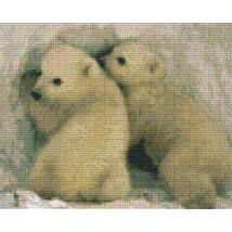 Két jegesmedve 2 (25,4x20,3cm)