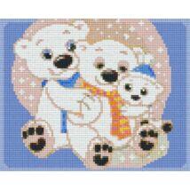 Jegesmedve család 2 (25,4x20,3cm)