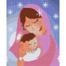 Anya és gyermeke 2 (20,3x25,4cm)