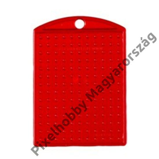 Kulcstartó alaplap - átlátszó piros