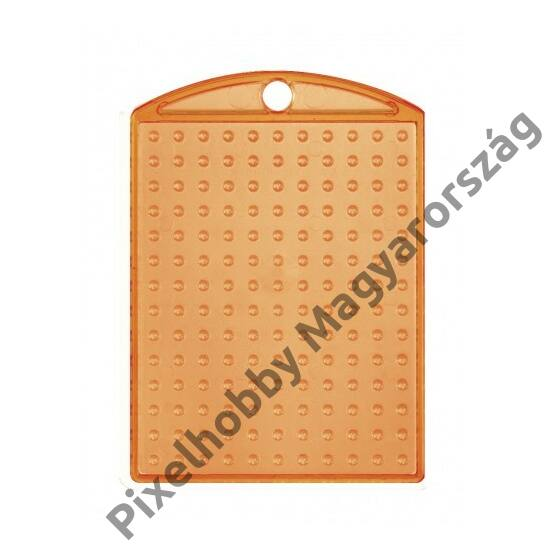 Kulcstartó alaplap - átlátszó narancssárga