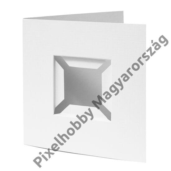 Díszkártya 3D fehér