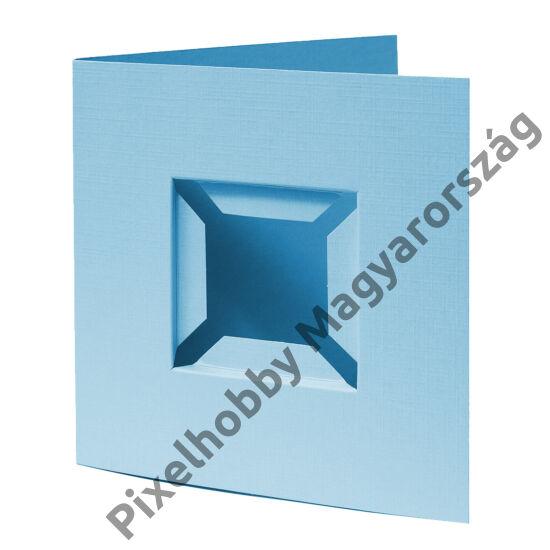 Díszkártya 3D kék