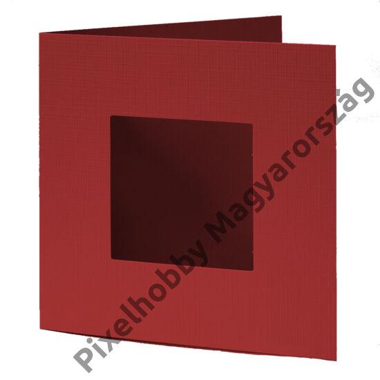 Díszkártya - piros