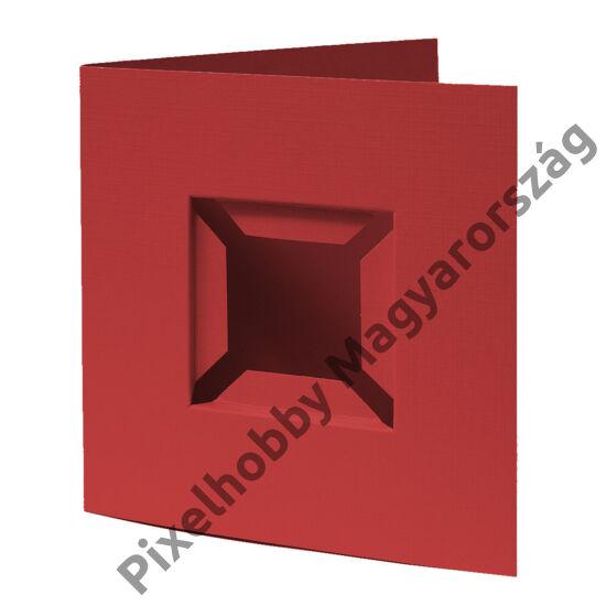 Díszkártya 3D piros