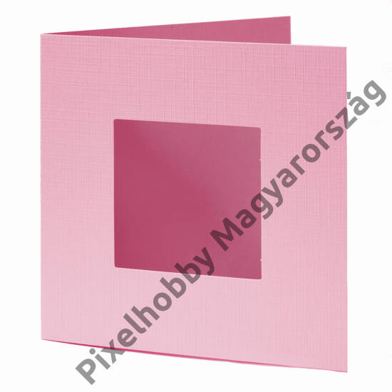 Díszkártya - rózsaszín