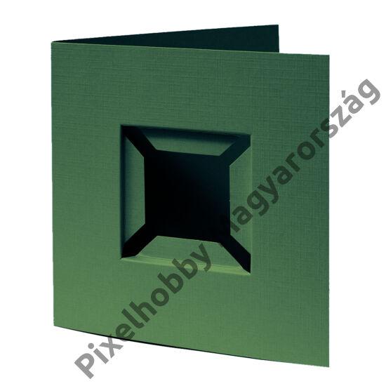 Díszkártya 3D zöld