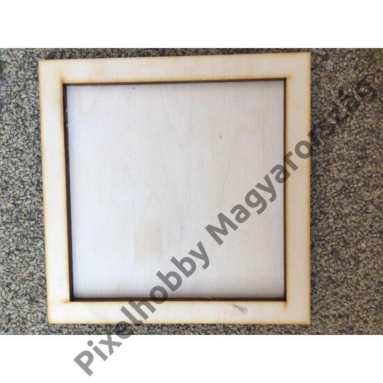 Fa képkeret (12x12 cm képhez)