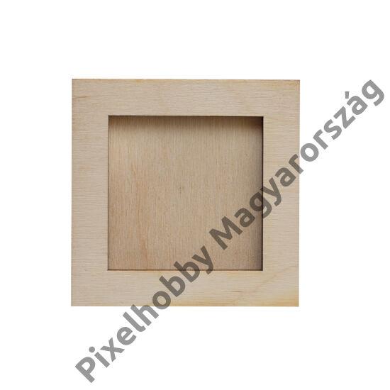 Fa képkeret (6x6cm képhez)