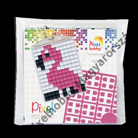 Kulcstartó szett (kulcstartó alaplap + 3 szín) flamingó