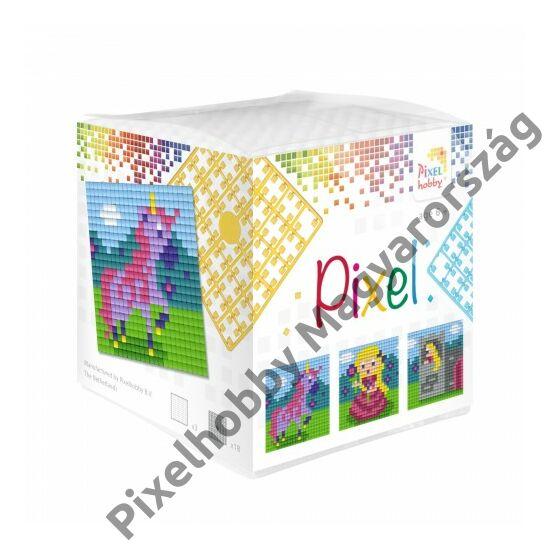 Pixel Kocka - Hercegnő - Unikornis