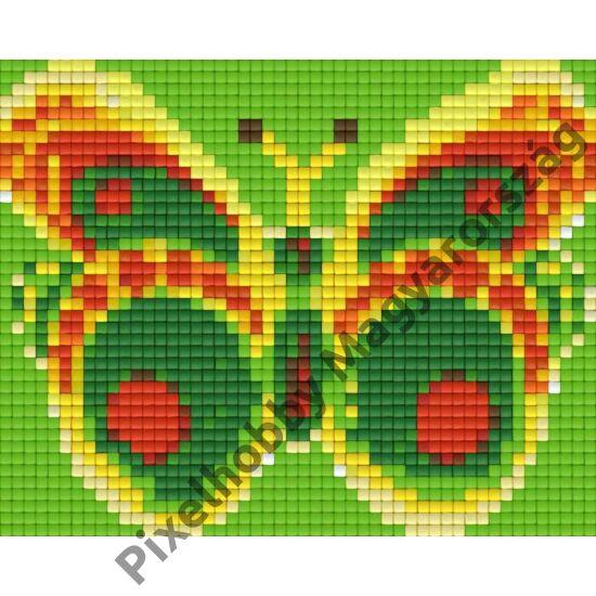 Zöld-sárga pillangó (12,7x10,1cm)