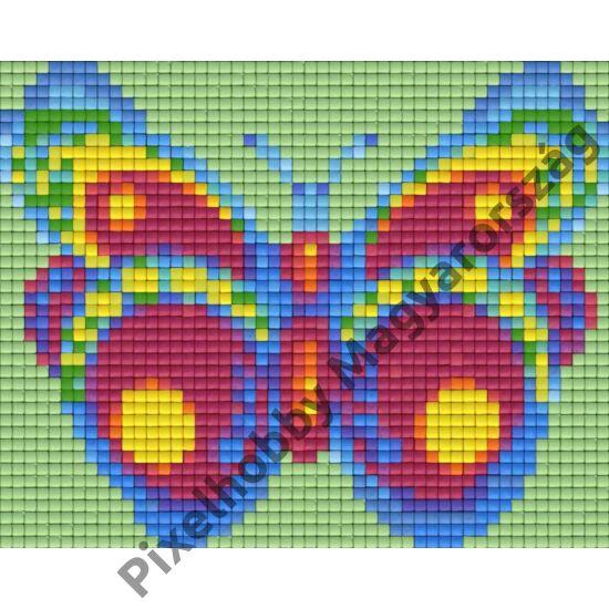 Zöld-lila pillangó (12,7x10,1cm)