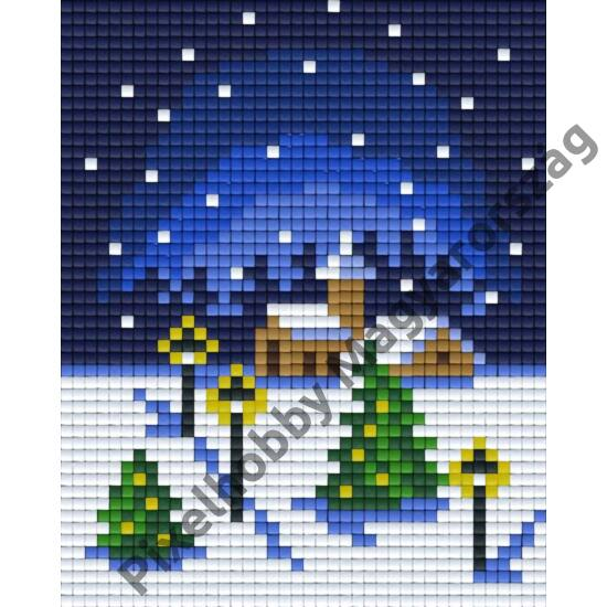 Templom karácsonykor (10,1x12,7cm)