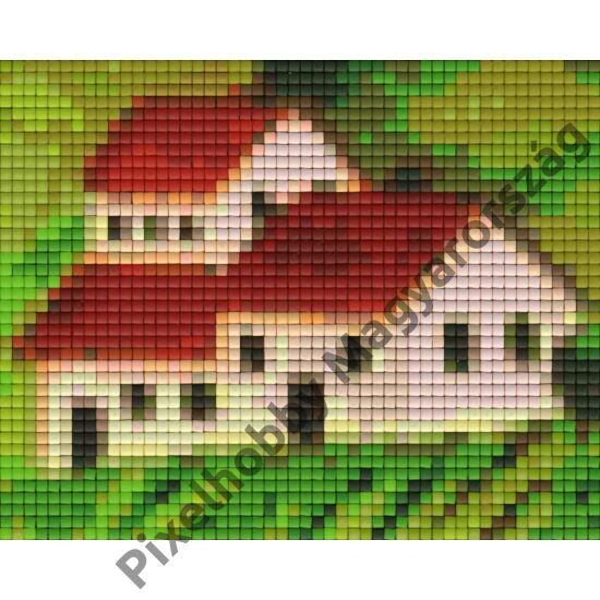 Toszkán ház (12,7x10,1cm)