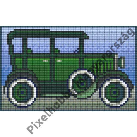 Zöld oldtimer (12,7x10,1cm)