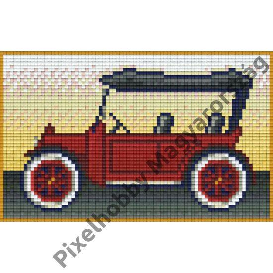 Piros oldtimer (20,3x12,7cm)