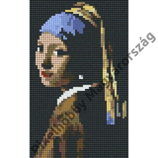 Pixelhobby minta Lány gyöngyfülbevalóval